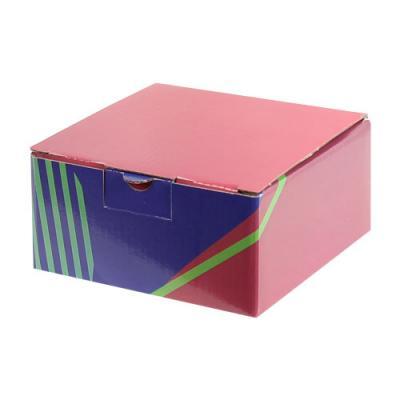 Desenli Kutu 13,5x13,5x6,5 cm. Bordo Lacivert Yeşil-KoliCadde