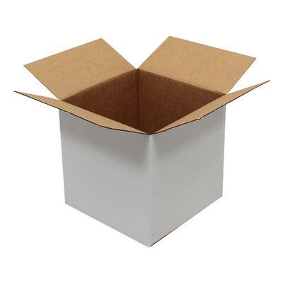 Beyaz Tek Oluklu Karton Koli 23x23x23 cm.-KoliCadde