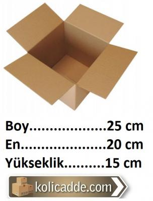 50 Adet Karton Kutu 25x20x15 cm. Tanesi 1,69 L.-KoliCadde