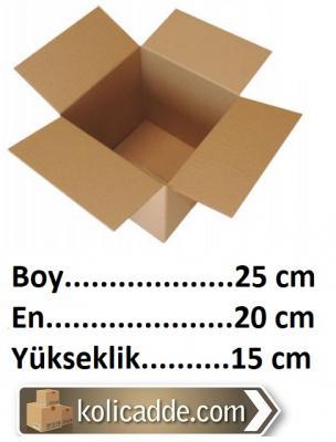 Karton Ambalaj Kutusu 25x20x15 cm.