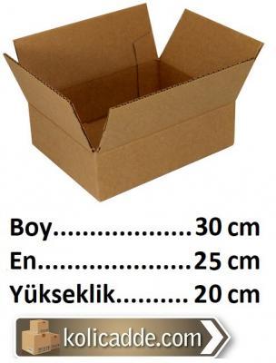 100 Adet Karton Koli 30x25x20 cm. Tane Fiyatı 1.89 Lira