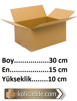 100 Adet Karton Kutu 30x15x10cm. Tane Fiyatı 1,22 Lira-KoliCadde