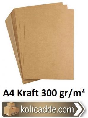 Kraft Kağıdı A4 300 gr/m² 50 Adet-KoliCadde