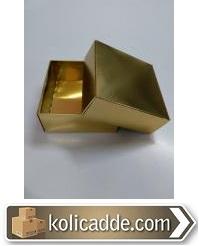 Altın Varak Karton Kutu 8x8x3,5 cm