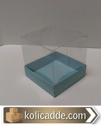 Asetat Kapaklı Kutu 10x10x12 cm-KoliCadde