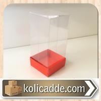 Kırmızı Asetat Kutu 5x5x9 cm.