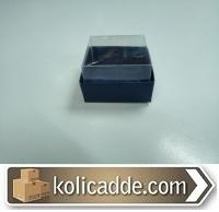 Asetat Kapaklı Lacivert Kutu 5x5x3 cm.