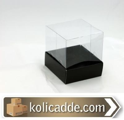 Siyah Asetat Kutu 9x9x7 cm