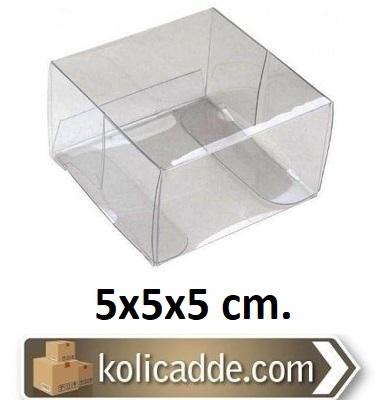 100 Adet Asetat Kutu 5x5x5 cm. Tanesi 0,47 L.