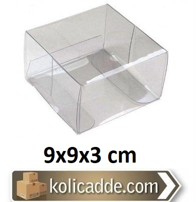 Asetat Kutu 9x9x3 cm