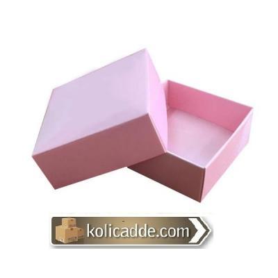 Komple Karton Pembe Kapaklı Kutu 5x5x2,2-KoliCadde