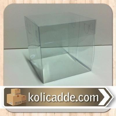 Asetat Şeffaf Kutu 10x10x12 cm.-KoliCadde