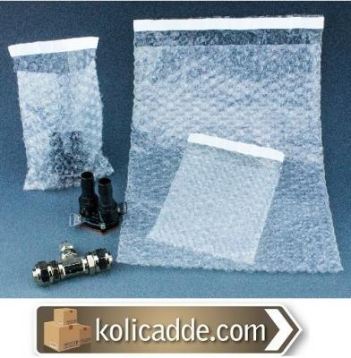 Balonlu Patlayan Poşet 15x20+5 cm. Bantlı Kapaklı-KoliCadde