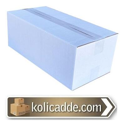 Tek Oluklu Beyaz Karton Kutu 35x20x20 cm.-KoliCadde
