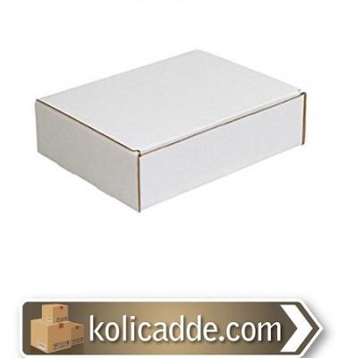 Beyaz Kilitli Karton Kutu 13,5x13,5x6,5 cm.