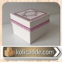 Kapaklı Karton Kutu 8x8x6,5 cm