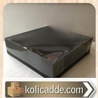 Büyük Siyah Asetat Kutu 35x35x10 cm