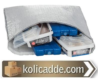 Soğuk Tutan Poşet 45x35+5 Bantlı Kapaklı