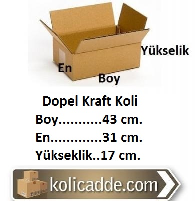 Dopel Kraft Koli 43x31x17 cm.-KoliCadde