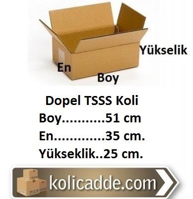 Dopel TSSS Koli Çift Oluklu 51x35x25 cm.-KoliCadde