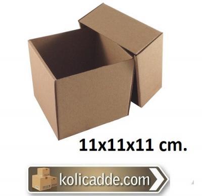 Kapaklı Kraft Kutu 11x11x11 cm.-KoliCadde
