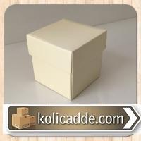 Karton Kapaklı Takı Kutusu  8x8x6,5 cm.
