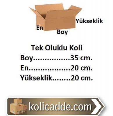Oluklu Karton Koli 35x20x20 cm.-KoliCadde