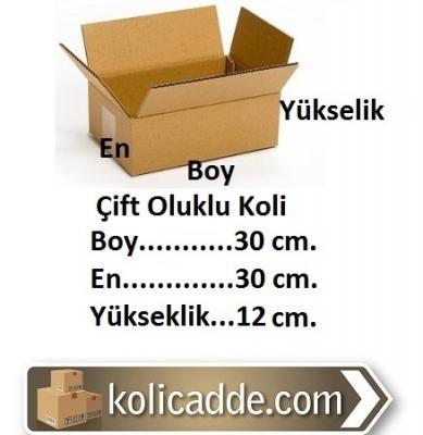 Kraft Koli 30x30x12 cm.-KoliCadde