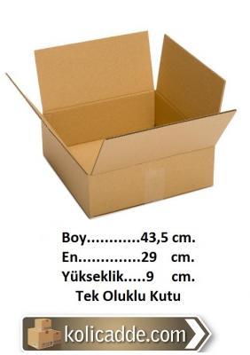 Tek Oluklu Karton Kutu 43,5x29x9 cm.-KoliCadde
