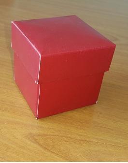 Kapaklı Karton Kutu 5x5x5 cm. Bordo
