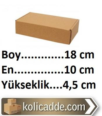 Kilitli Karton Kutu 18x10x4,5 cm.
