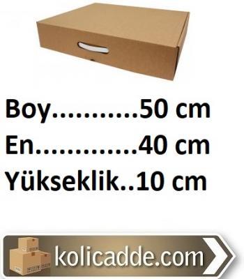Kulplu Karton Kutu 50x40x10 cm.-KoliCadde