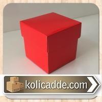 Kırmızı Hediye Kutusu 5x5x5 cm-KoliCadde