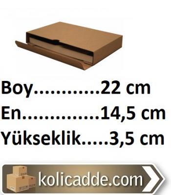 Kilitli Kitap Kutusu 22x14,5x3,5 cm.-KoliCadde