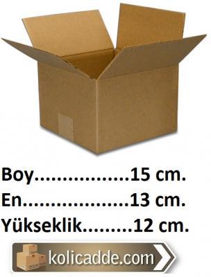 Tek Oluklu Karton Kutu 15x13x12 cm.-KoliCadde