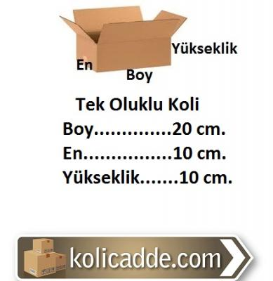 Boş Karton Kutu 20x10x10 cm.