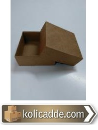 Kraft Kapaklı Kutu 8x8x3,5 cm-KoliCadde