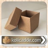 Üstten Kapaklı Kraft Kutu 6x6x6 cm