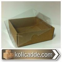 Kraft Kutu Asetat Kapaklı 8x8x3 cm