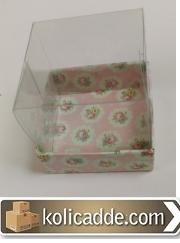 Küçük Asetat Kapaklı Kutu  5x5x3 cm.