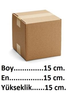 Tek Oluklu Karton Kutu 15x15x15 cm.-KoliCadde