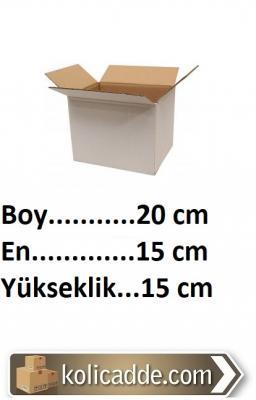Beyaz Kargo Kutusu 20x15x15 cm.