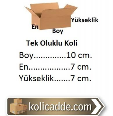 Küçük Karton Kutu 10x7x7 cm.-KoliCadde
