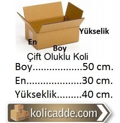 Büyük Karton Koli 50x30x40 cm.