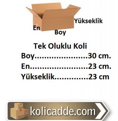 Tek Oluklu Karton Koli 30x23x23 cm.