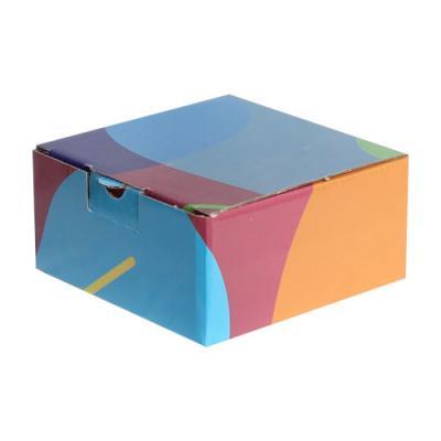 Ofset Baskılı Kutu 13,5x13,5x6,5 cm. Lacivert Bordo Mavi-KoliCadde