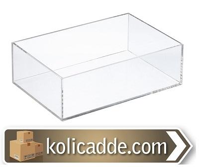 Mika Pleksi Kutu Kapaklı 9x6x3 cm.-KoliCadde