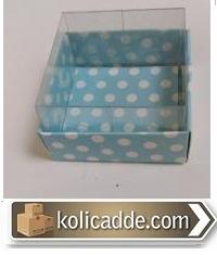 Asetat Kapaklı Puantiyeli Kutu 5x5x3 cm.