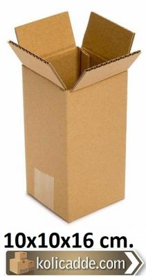 İnce Uzun Karton Kutu 10x10x16 cm.-KoliCadde
