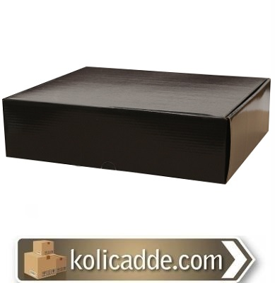 Siyah Kilitli Kutu 29x25x8 cm.-KoliCadde
